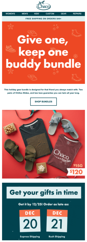 Chaco Give one, Keep one Buddy Bundle email