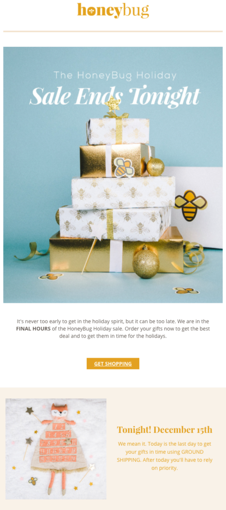 Honeybug final hours green monday email