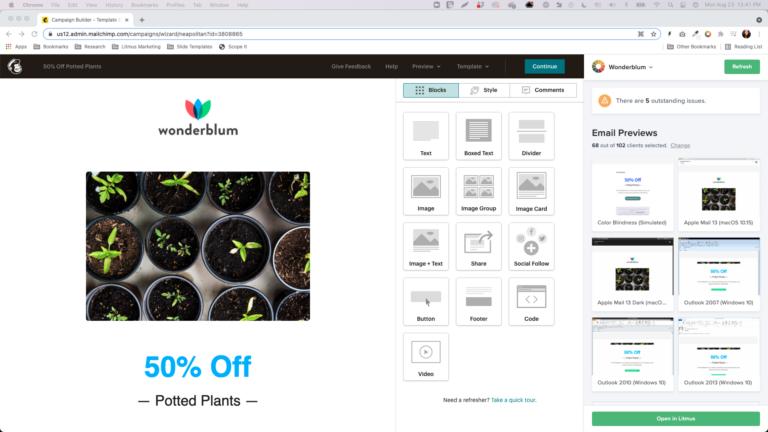 Screenshot of Mailchimp Extension